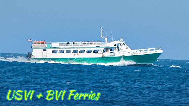 USVI + BVI ferry information