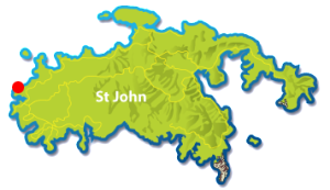 Honeymoon Bay Beach, St John map