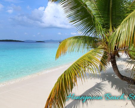 Honeymoon Beach on St John, USVI