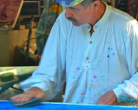 Sloop Jones painted apparel