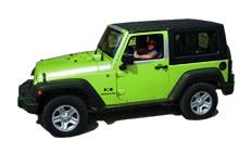 St John rental Jeep