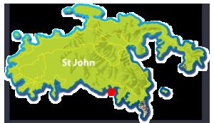 Yawzi Point St John map