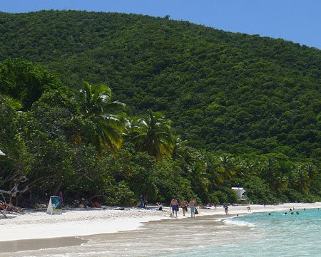 Trunk Bay beach on Saint John during low season