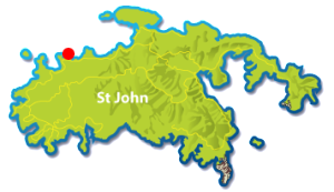 Jumbie Beach St John map