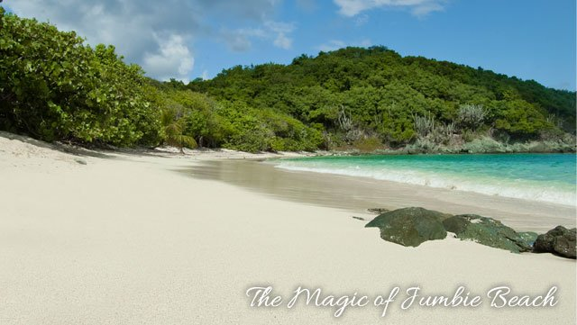 Jumbie Beach on Saint John, US Virgin Islands