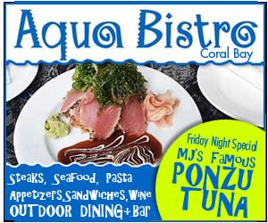 Aqua Bistro, Coral Bay, St John