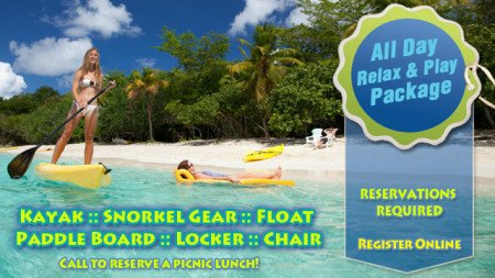 Honeymoon Beach Relax and Play SUP rental St John