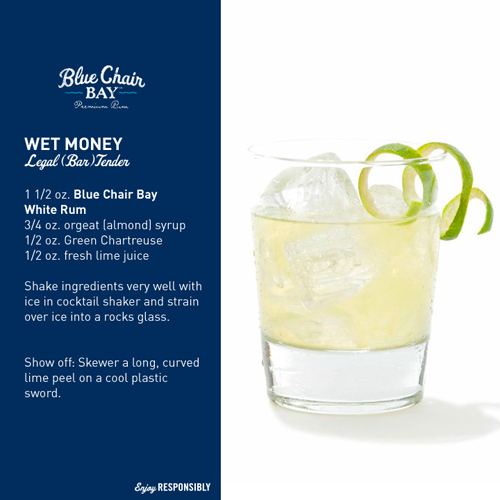 Blue Chair Bay Rum - Wet Money drink recipe