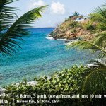St John rental villas - Three Palms Villa oceanfront