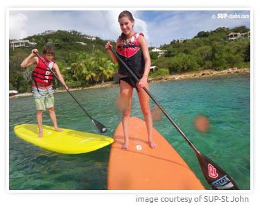 SUP paddle board rental St John