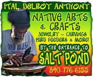 Ital Anthony native arts and crafts at Salt Pond