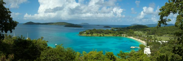 Caneel Bay Resort grounds and beaches