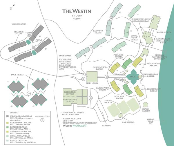 Westin St John map