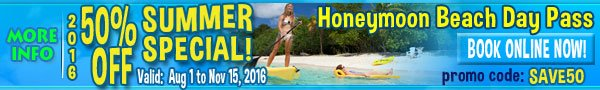 St John Honeymoon Beack All Day Pass Promo Code SAVE50 OFF