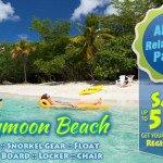 Honeymoon Beach St John all day pass promo codes