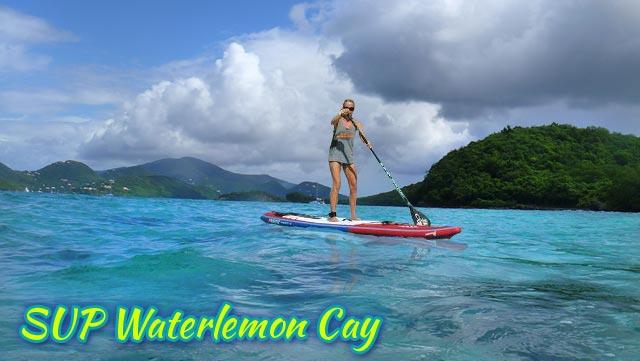 SUP Waterlemon Cay St John US Virgin Islands National Park