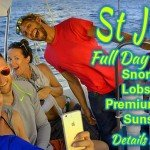 St Thomas and St John full day sailing charter, snorkeling, Caribbean lobster and premiu open bar