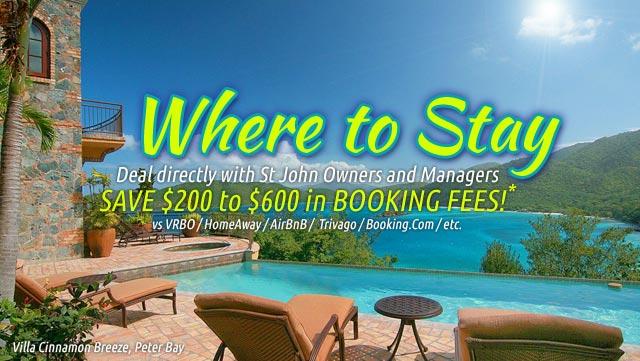 St John US Virgin Islands vacation rentals guide