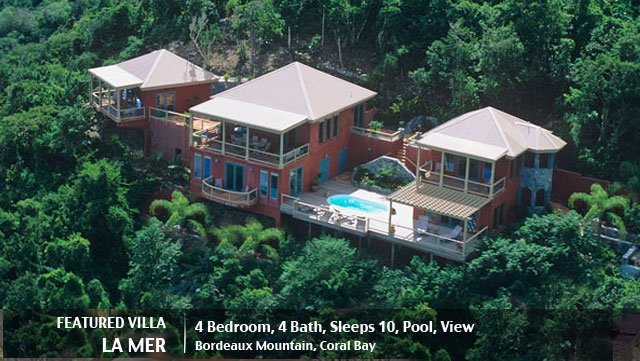 St John rental villa La Mer