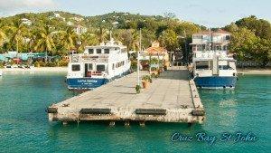 Ferry dock in Cruz Bay on St John