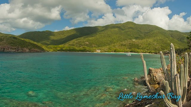 Lameshur Bay beach on St John
