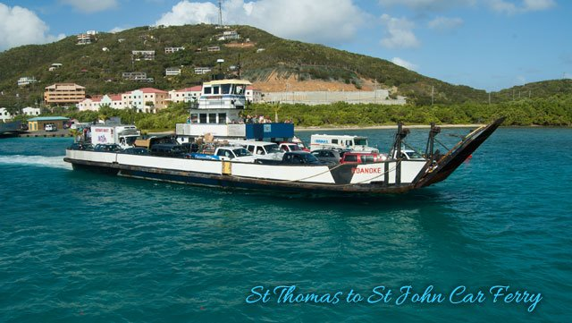 St Thomas to St John car ferry to Cruz Bay