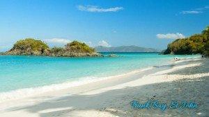 Trunk Bay beach on St John USVI