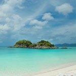 Trunk Bay, St John , US Virgin Islands top beach