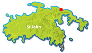 Brown Bay St John map