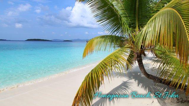 Honeymoon Beach on St John, USVI