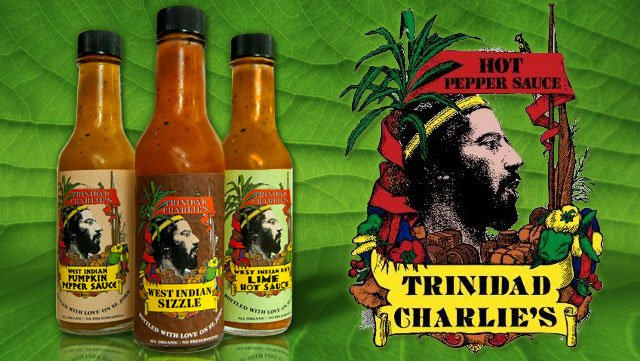 St John hot sauces by Trinidad Charlie