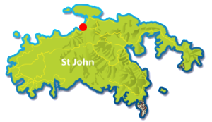 Maho Bay beach, St John map