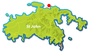 Waterlemon Cay, St John map