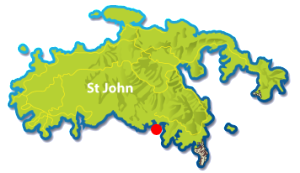 Yawzi Point St John map