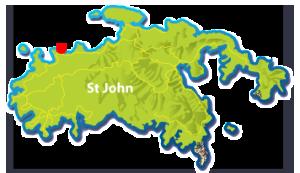 Jumbie Beach St John map