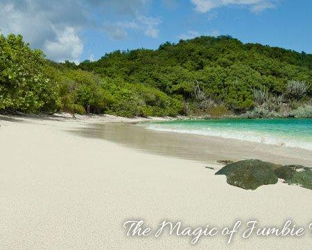 Jumbie Beach on Saint John, US Virgin Islands