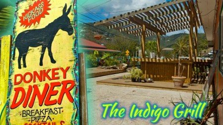 The Indigo Grill bar + restaurant, Coral Bay, St John, USVI