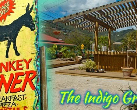 The Indigo Grill bar + restaurant, Coral Bay, St John, USVI