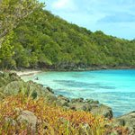 Little Hawksnest Beach on St John