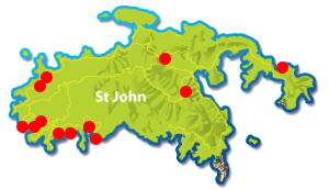 St John web cam locations map