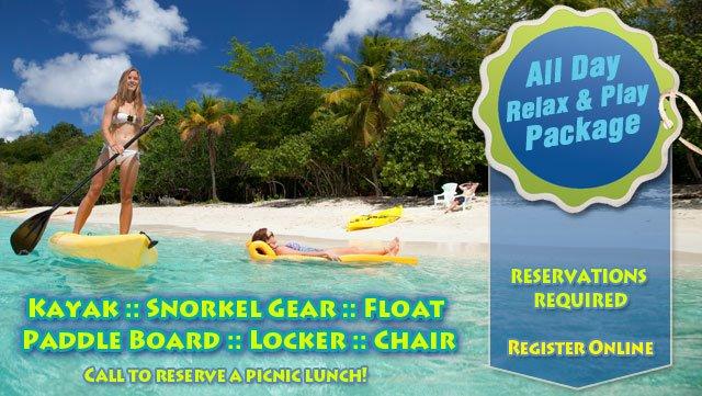 Honeymoon Beach Relax and Play SUP rental St John