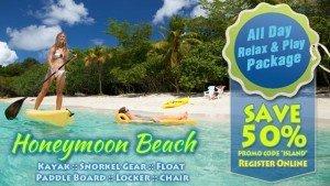 Honeymoon Beach All Day Pass - St John USVI