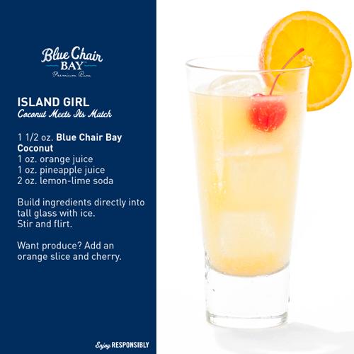Blue Chair Bay Rum - Island Girl drink recipe