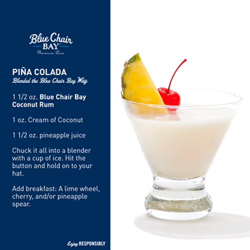 Blue Chair Bay Rum - pina colada drink recipe