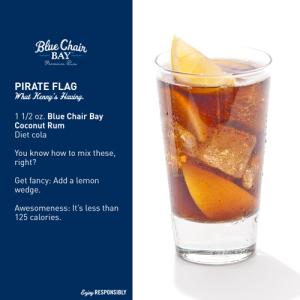 Blue Chair Bay Rum - Pirate Flag drink recipe