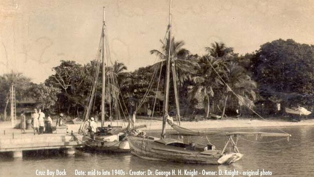 Cruz Bay Dock, St John, US Virgin Islands 1945