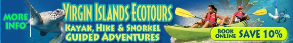 Book online and save 10% on any Virgin Islands Ecotours guide kayak activities