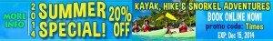 Virgin Islands Ecotours Kayak, Hike, Snorkel Adventures promo coupon discount