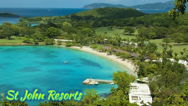 St John Resorts Information - On-Island Times US Virgin Islands : On Caneel Bay Map on