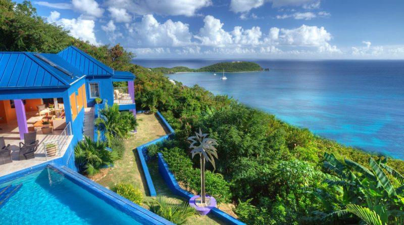 Mare Blu Villa, St John pool and ocean view